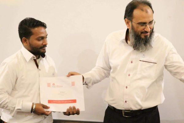 Award to Noman Ali DC Associate
